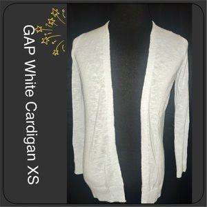 GAP White Open Cardigan XS NEW
